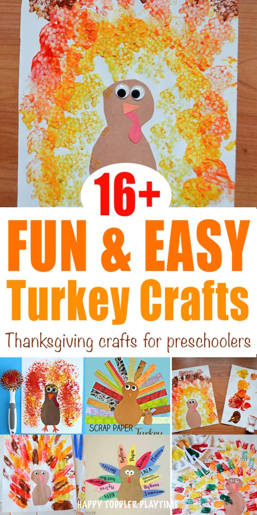 20 Fun Easy Thanksgiving Crafts Happy Toddler Playtime