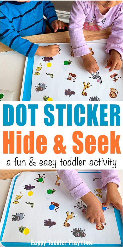 DOT STICKER HIDE & SEEK a fun & easy toddler activity
