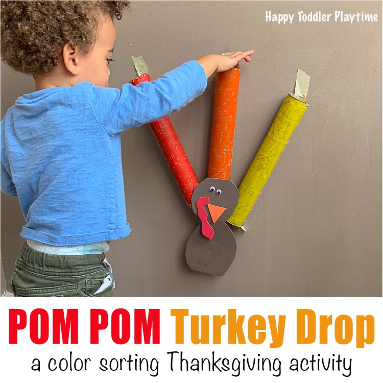 Pom Pom drop Thanksgiving Turkey \ for toddlers and preschoolers