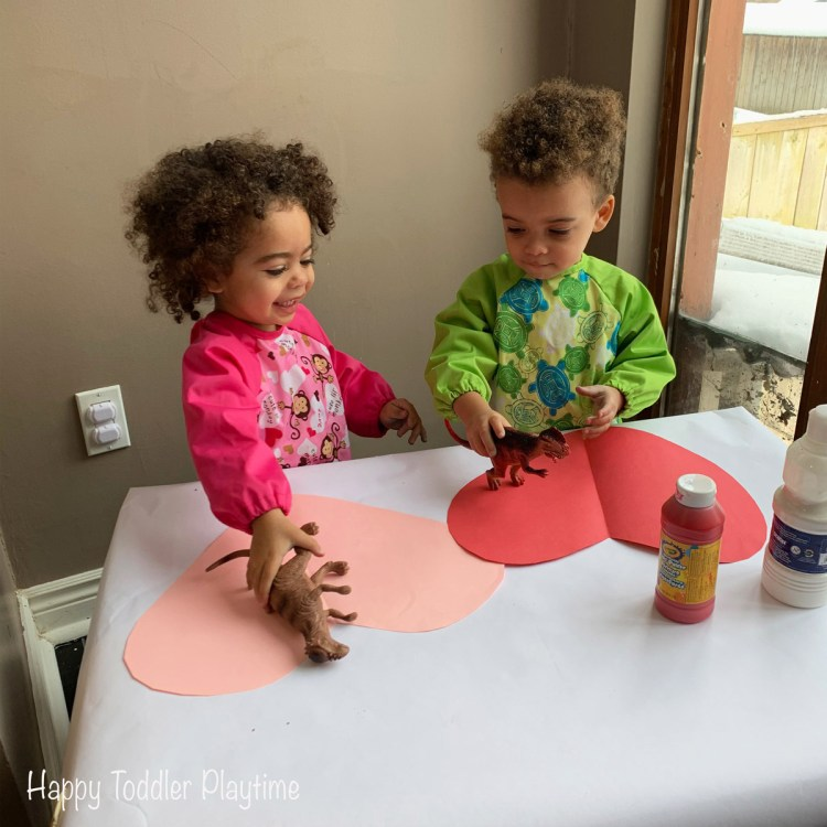 Dinosaur Painted Hearts crafts