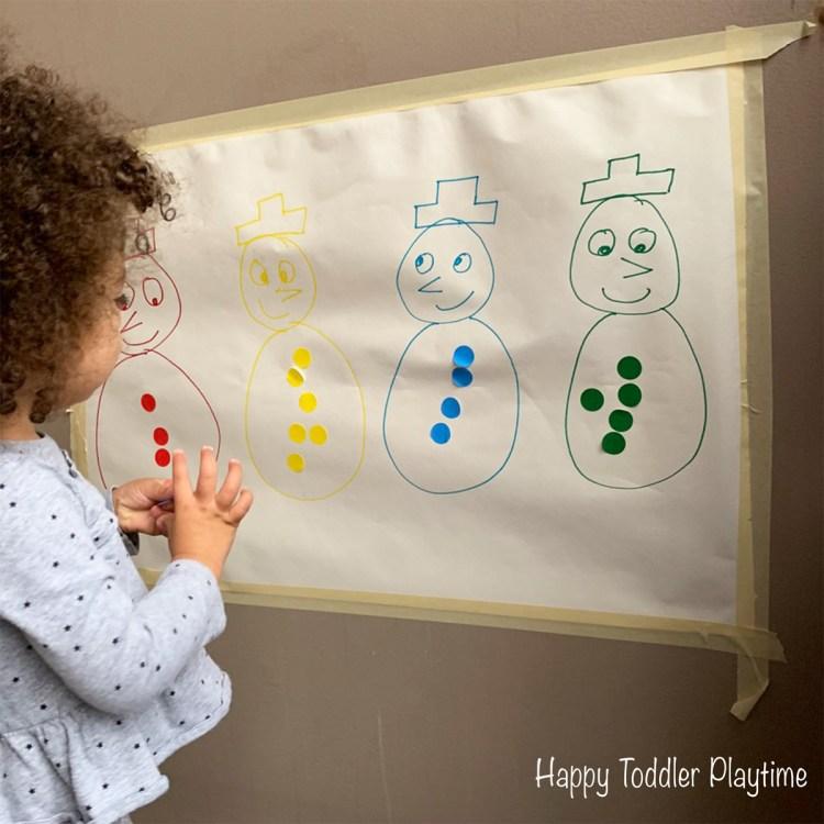 winter toddler activity indoor activity