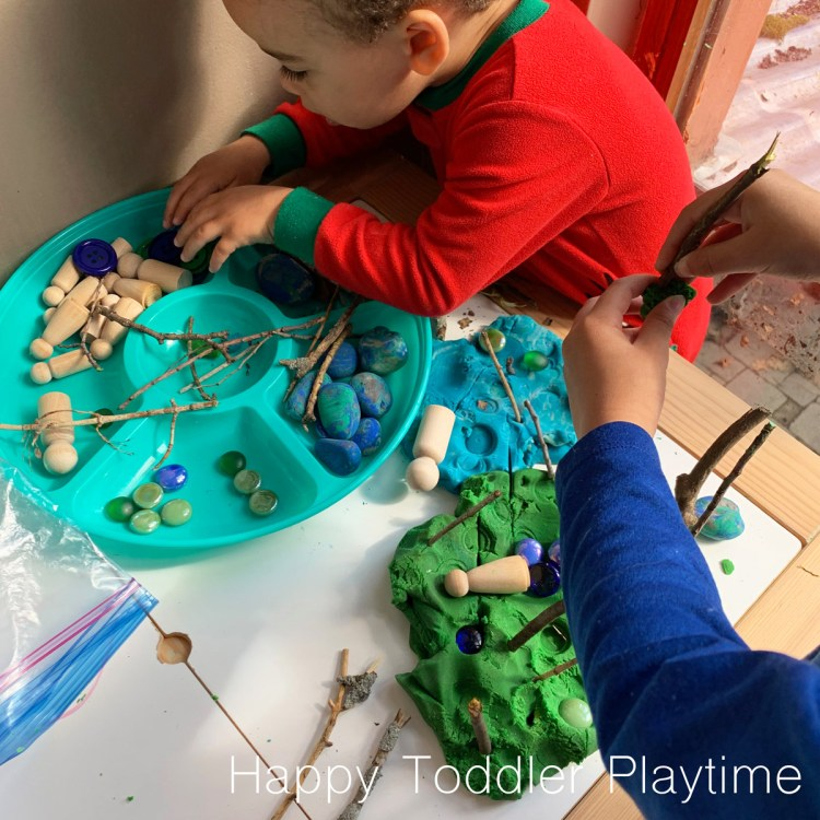 EARTH DAY PLAY DOUGH TRAY