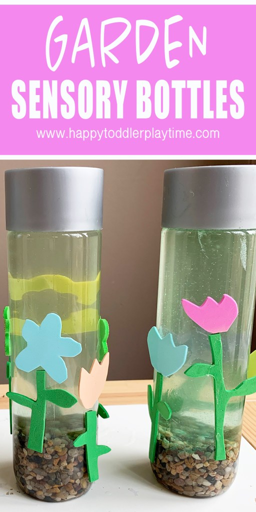 garden sensory bottles for preschoolers