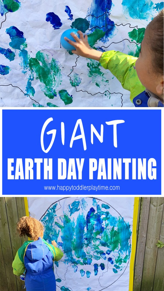 GIANT EARTH DAY PAINTING FOR KIDS