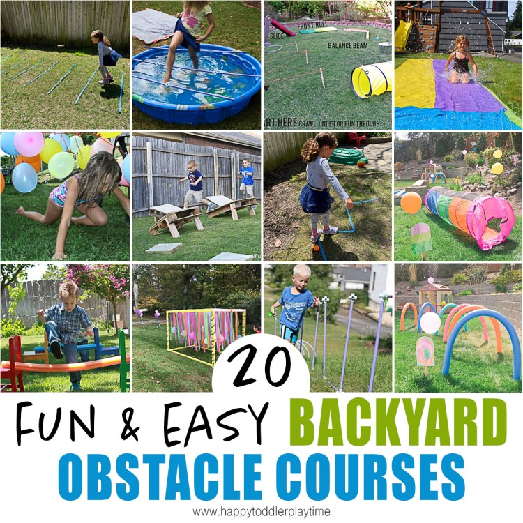 20 Amazing Backyard Obstacle Courses - HAPPY TODDLER PLAYTIME