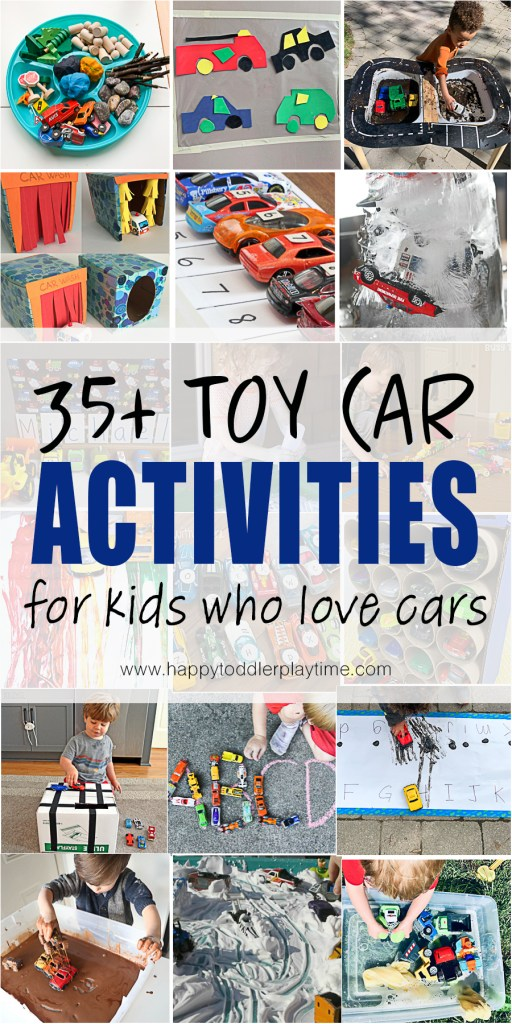 35+ Toy Car Activities for Kids who love cars