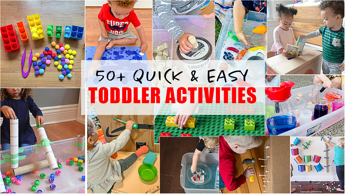 20+ Easy Toddler Activities   HAPPY TODDLER PLAYTIME
