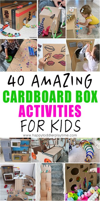 cardboard box activities and crafts for kids