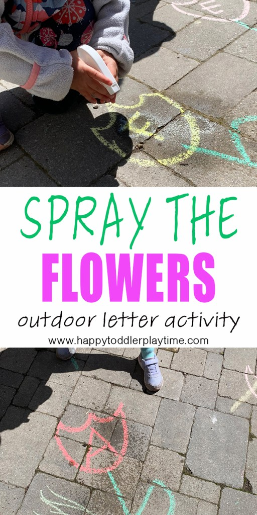 spray the flower letters toddler and preschooler activity