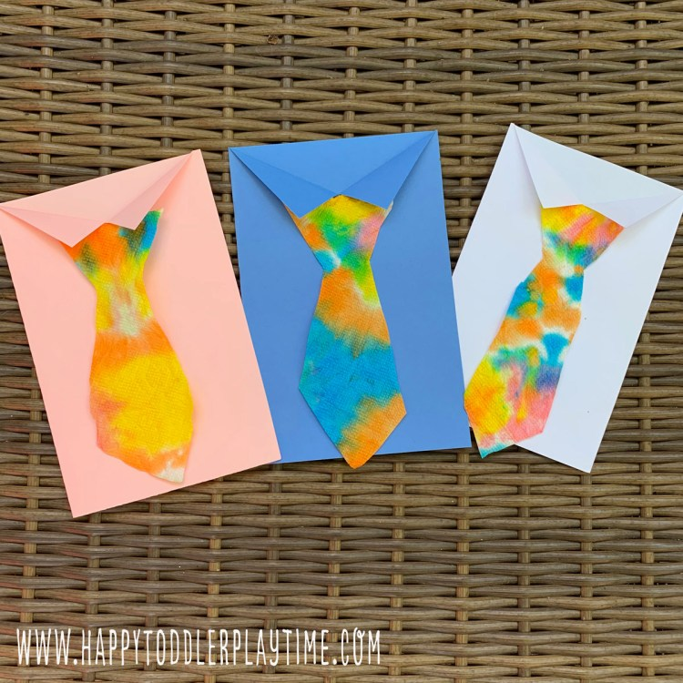 tie-dye Father's Day craft