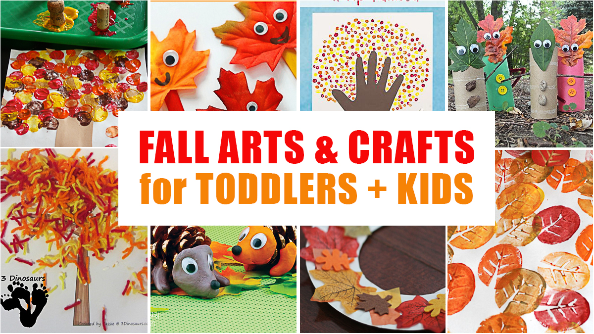 Fabulous Fall Crafts for Toddlers + Kids