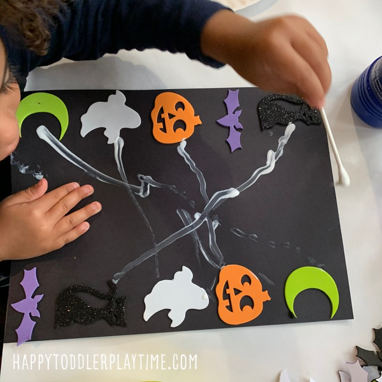 halloween sticker match fine motor activity