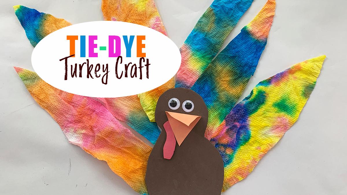 Easy Tie-Dye Turkey Craft