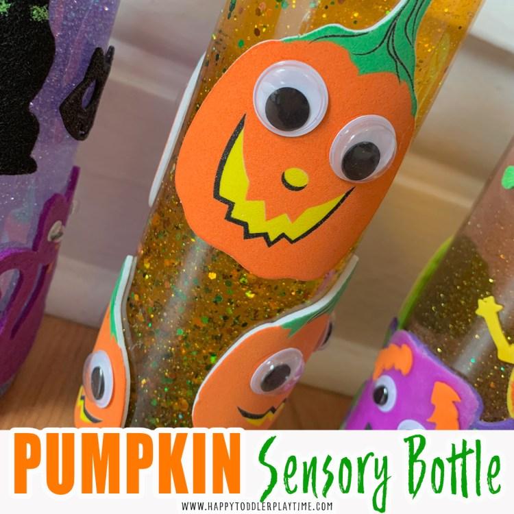 pumpkin sensory bottle craft
