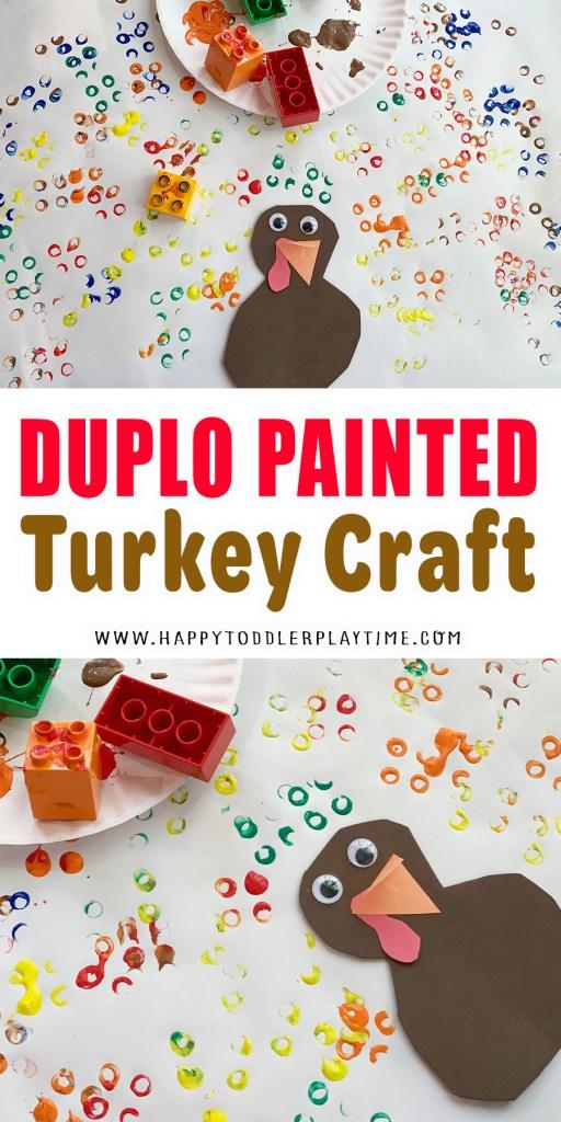 Duplo Painted Thanksgiving Turkey Craft