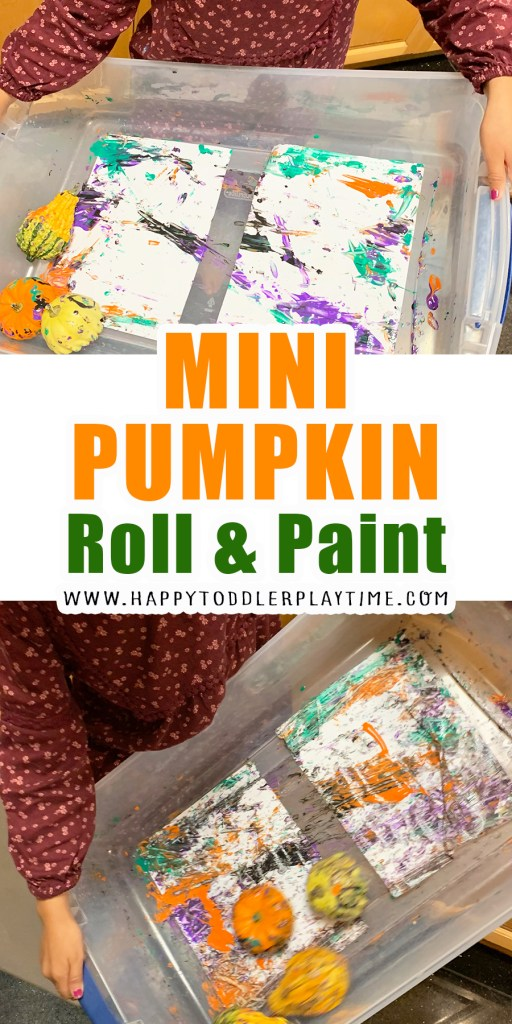 Mini Pumpkin Roll and Paint halloween activity