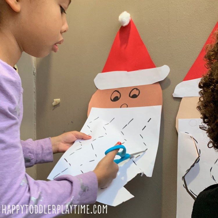 Cut Santa's beard activity i