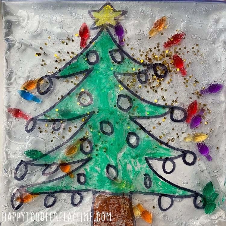 Christmas Tree Sensory Bag