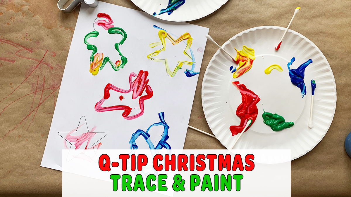 Q-Tip Christmas Trace & Paint Activity