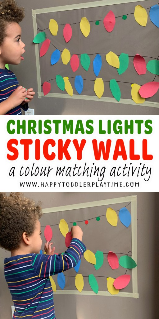 Christmas Light Sticky Wall