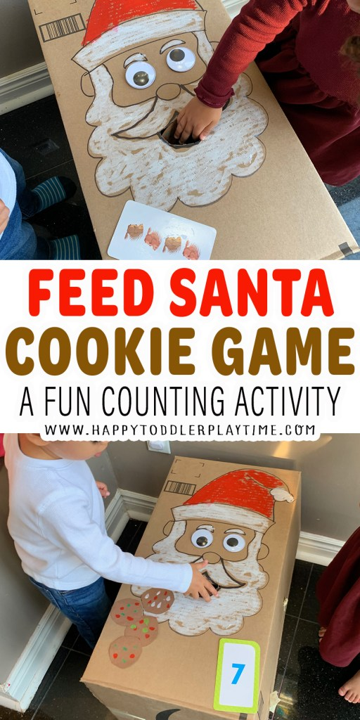 Feed Santa Cookie Game for Toddlers and Preschoolers