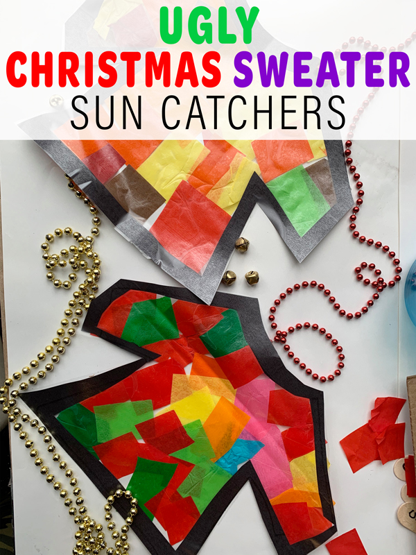 Ugly Christmas Sweater Sun Catchers