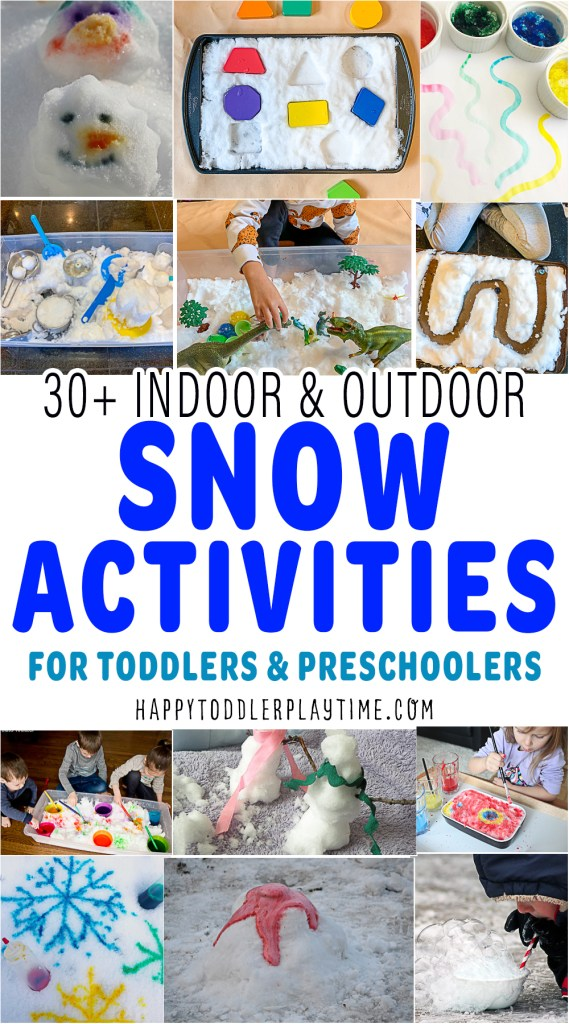 30+ Snow Activities for Toddlers & Preschoolers