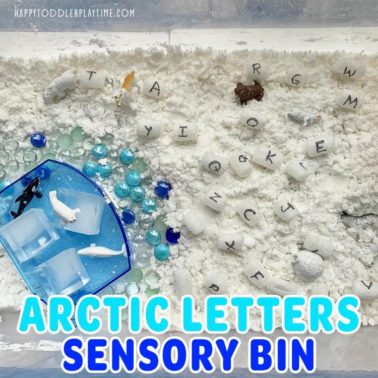 Arctic Letters Sensory Bin