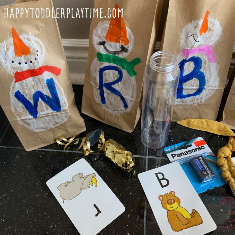 Snowman Phonics Discovery Bags