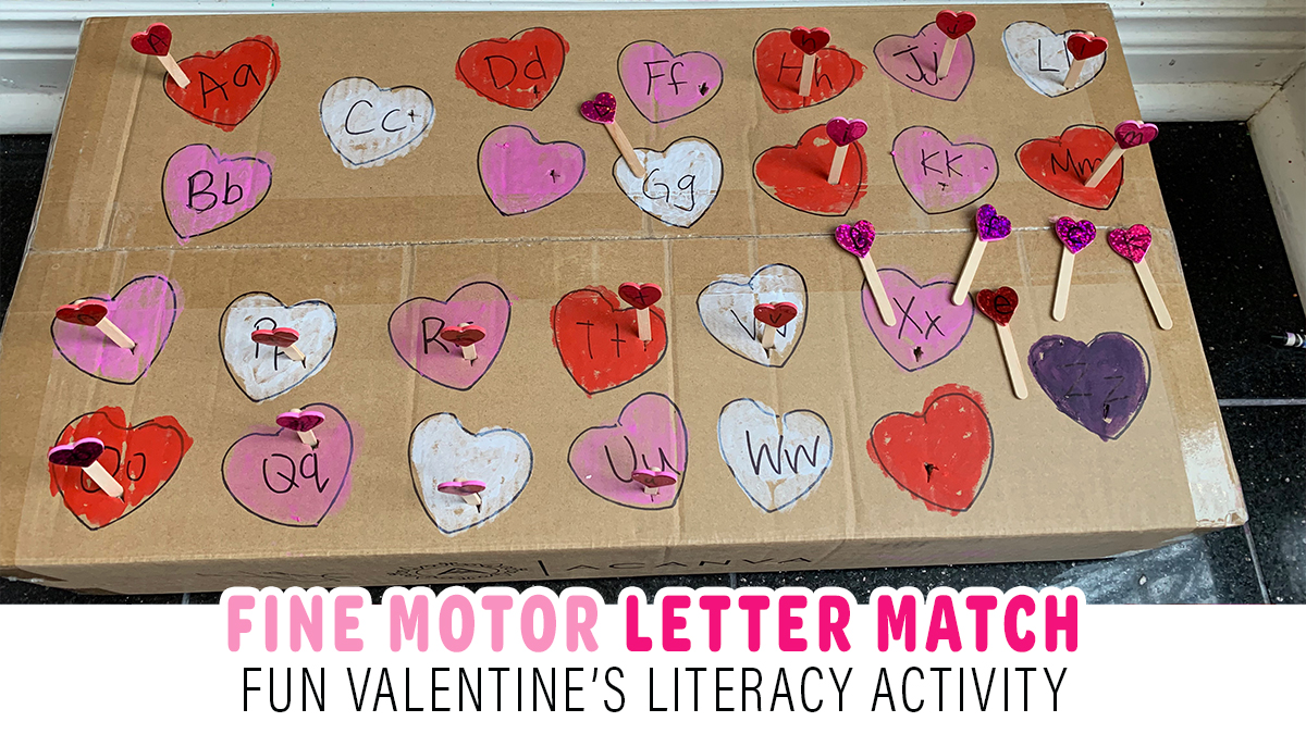 Fine Motor Valentine's Day Letter Match