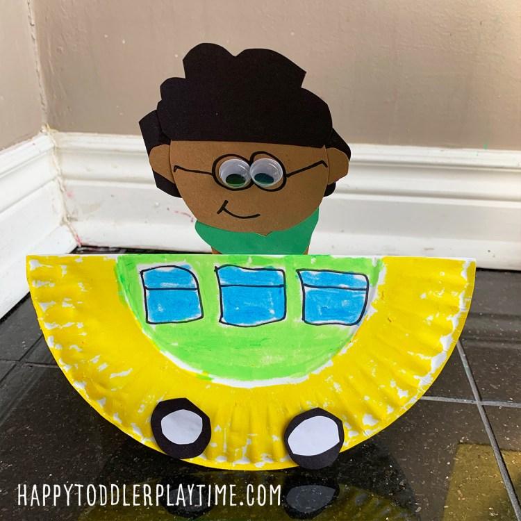 Rosa Parks Rocking Bus Craft