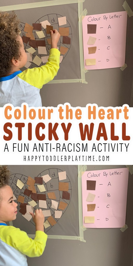 Colour the Heart Sticky Wall: Anti-Racism Activity