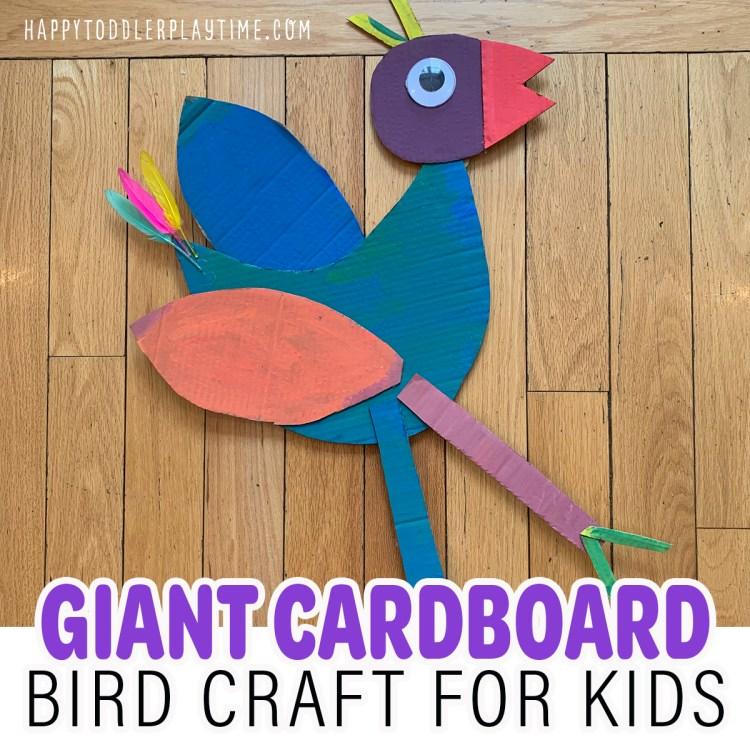 Easy Giant Cardboard Bird Craft