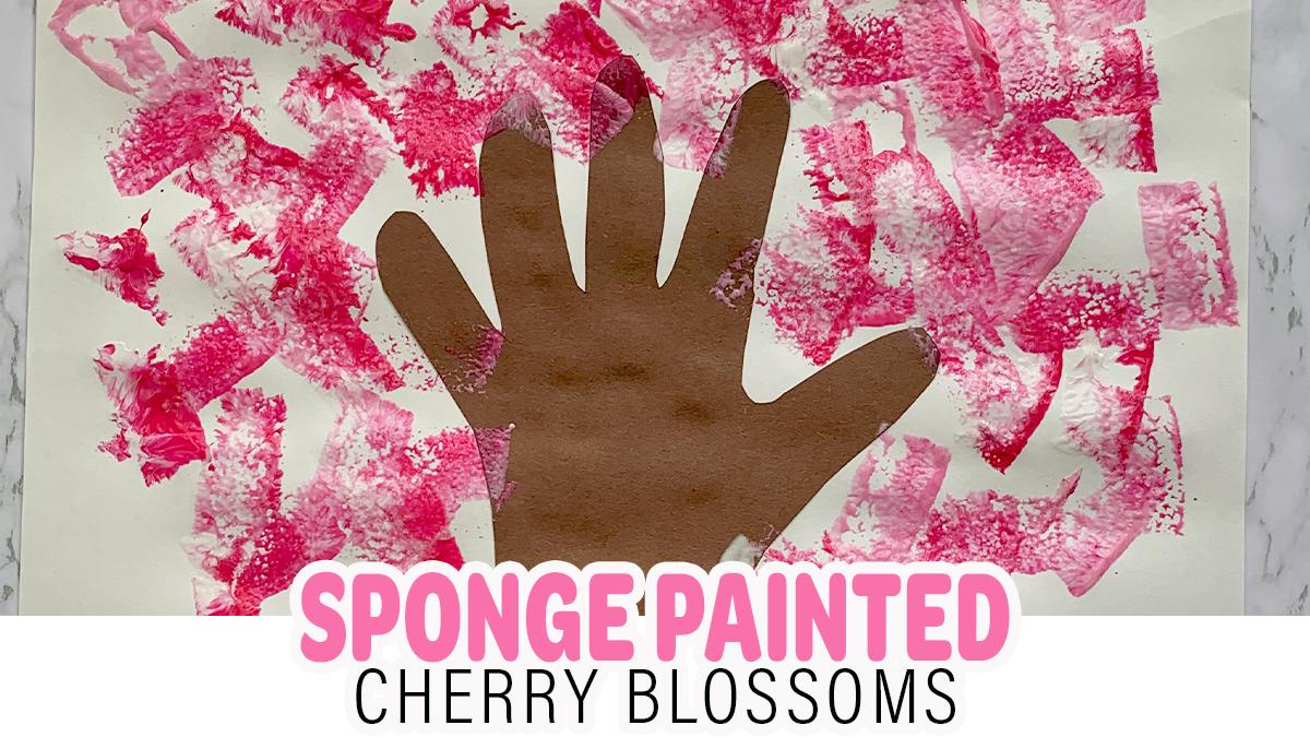 Sponge Painted Cherry Blossom Craft