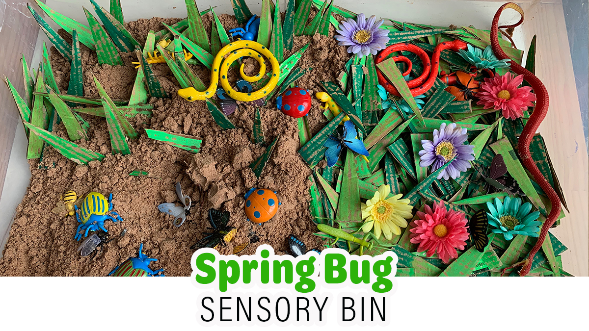 Spring Bug Sensory Bin for Kids