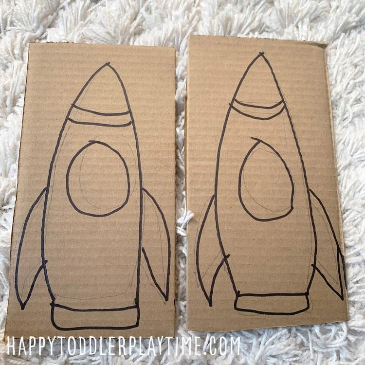 Rocket Ship Clothespin Counting Activity