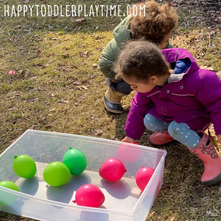 Balloon Egg Easter Hunt For Kids