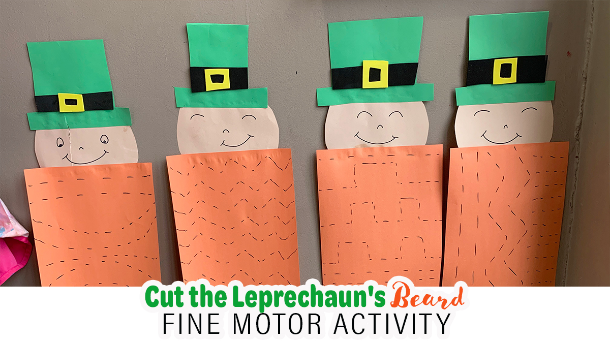 Cut The Leprechaun's Beard Fine Motor Activity