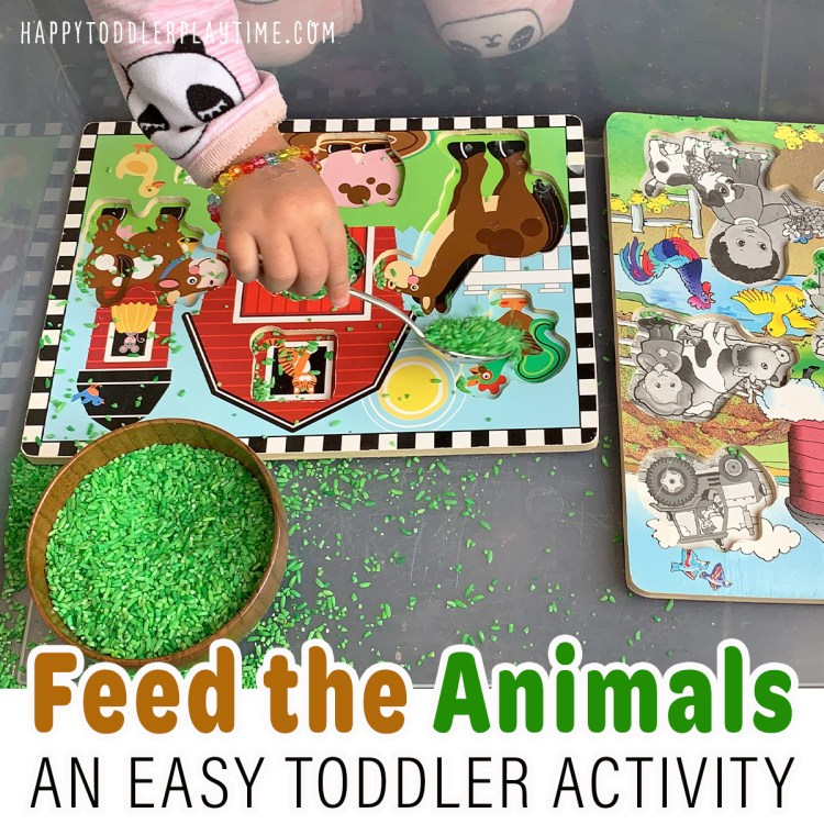 Feed the Animals: An Easy Toddler Activity
