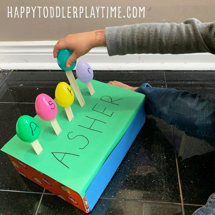 Easter Egg Name Activity for Preschoolers