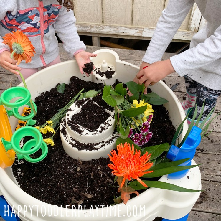 Garden Water Table Sensory Activity for Kids