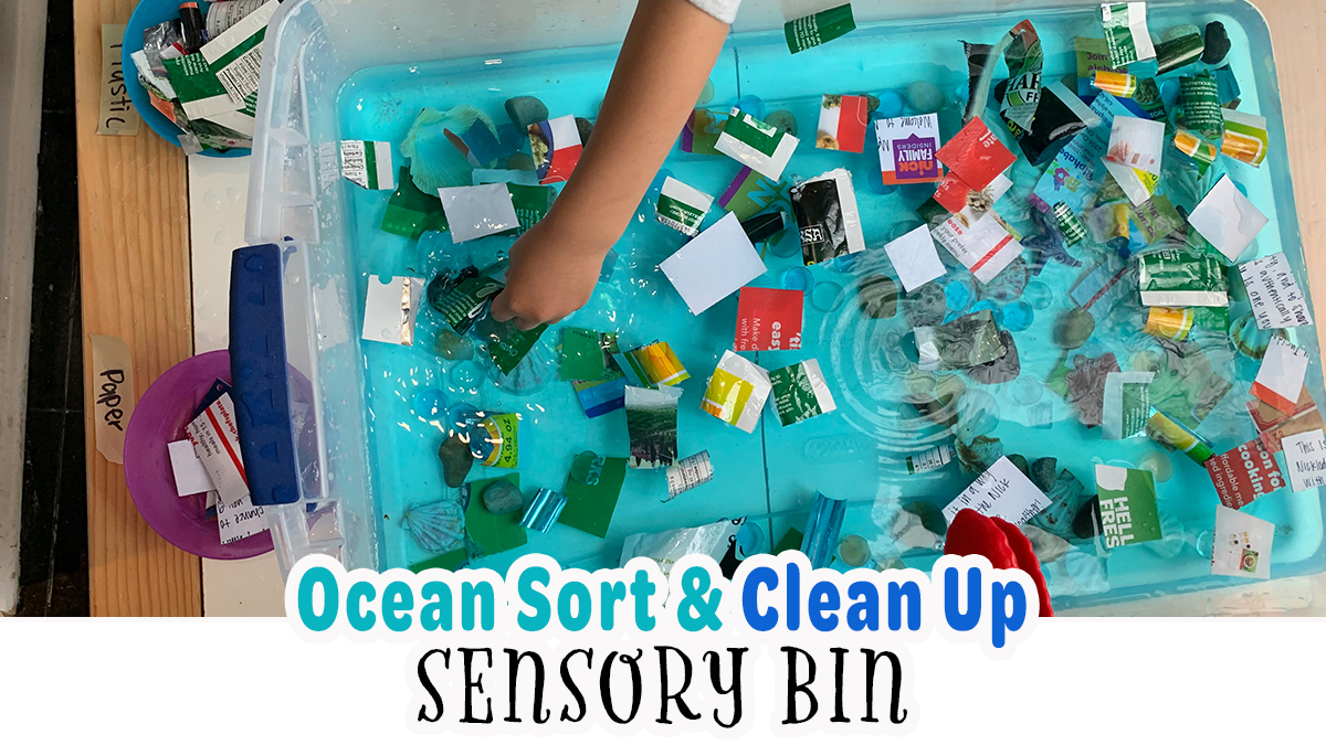 Earth Day Ocean Sort & Clean Up Sensory Bin