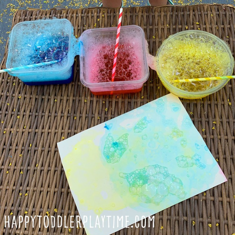 Bubble Print Butterfly Craft