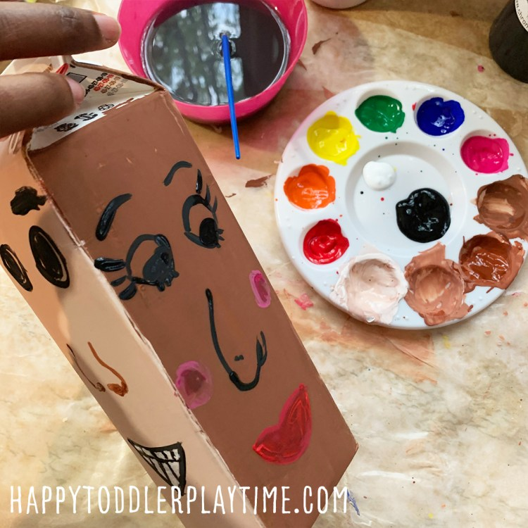 Milk Carton Faces Craft