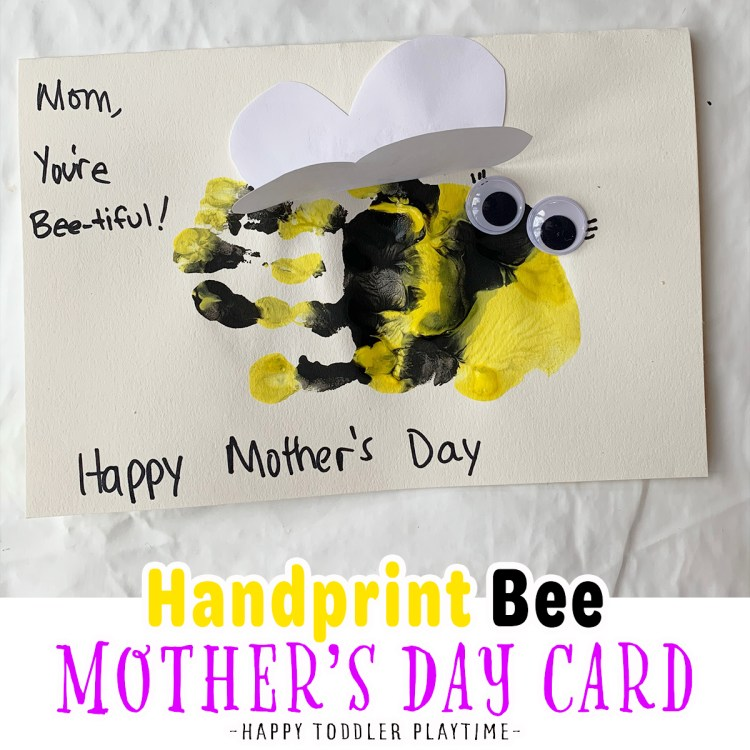 Handprint Bee Mother's Day Card