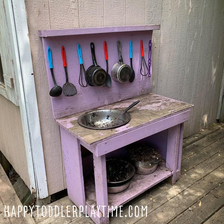 Mud Kitchen Set Up For Kids