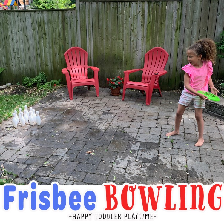 Frisbee Bowling for Kids