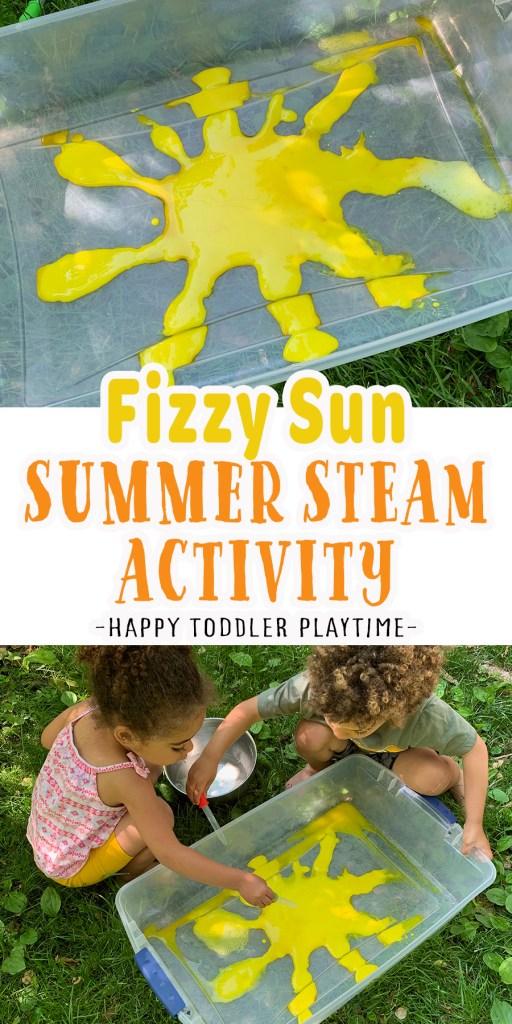 Fizzy Sun Sensory Bin: Summer STEAM