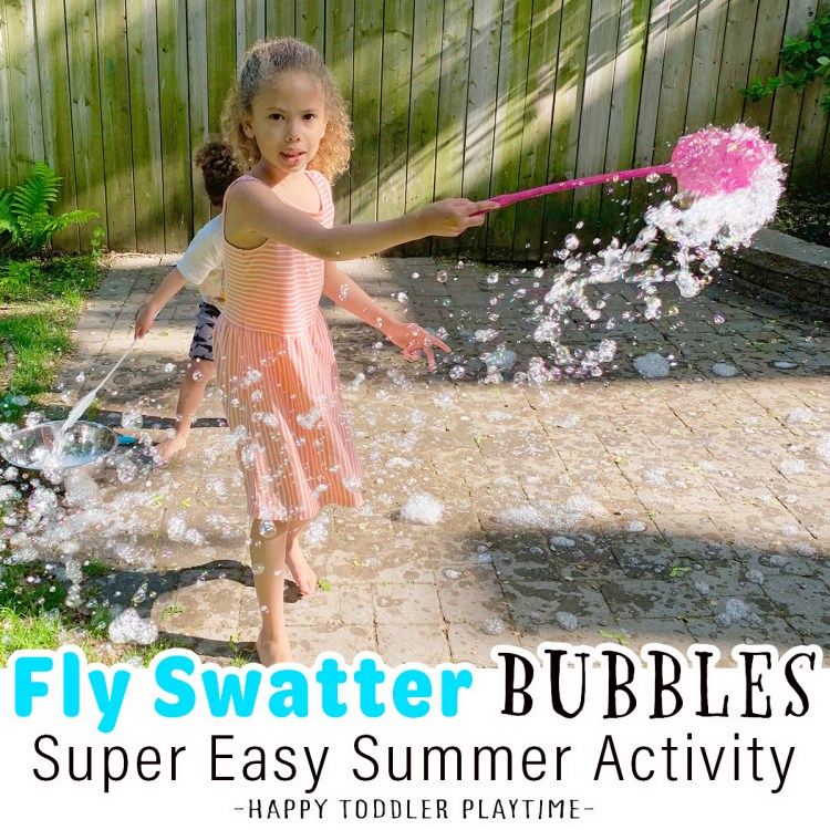 Fly Swatter Bubbles: Super Easy Summer Fun
