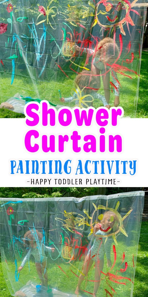 Shower Curtain Painting